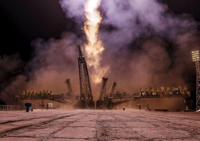 Lancement du vaisseau Soyouz TMA-17M