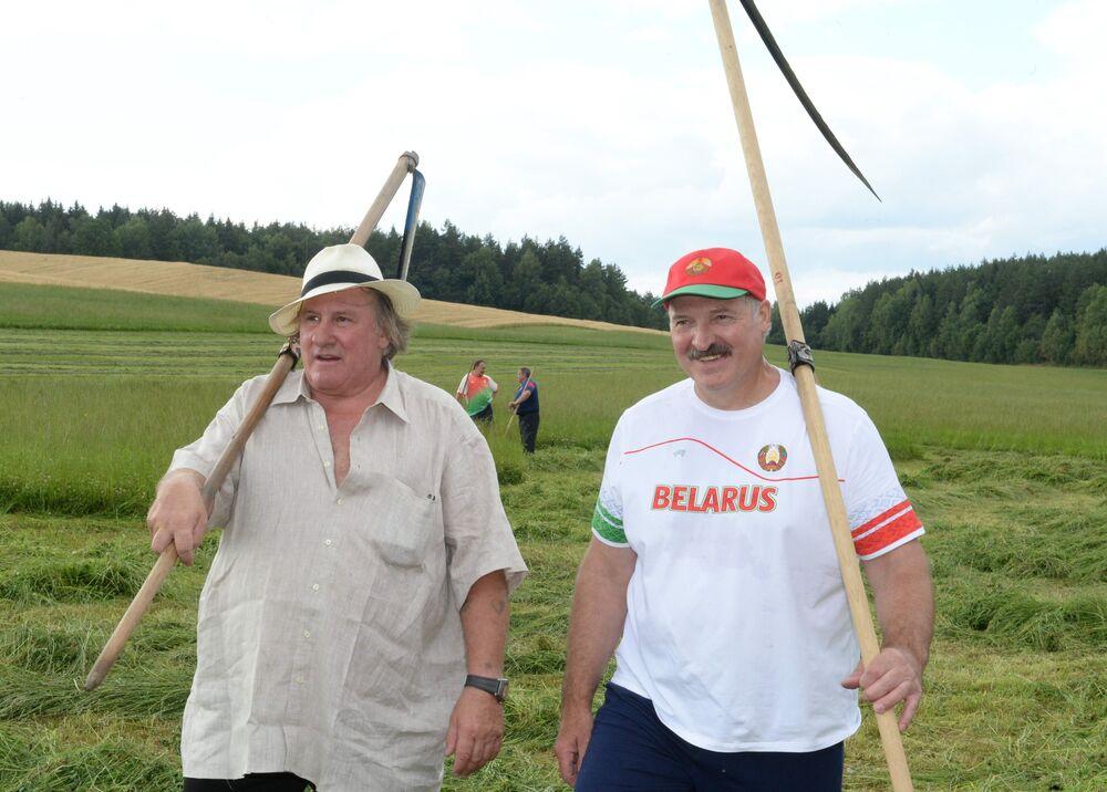 Gérard Depardieu en Biélorussie