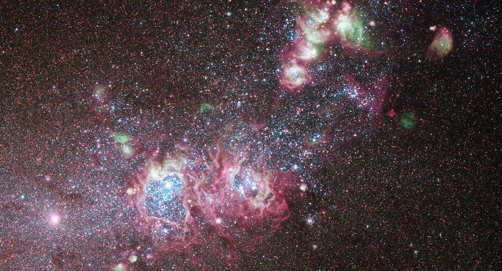 Galaxie NGC 4214 (image d'illustration)