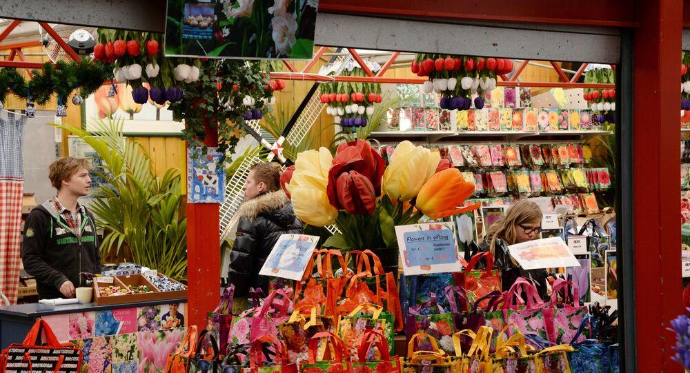 Le marché des fleurs à Amsterdam