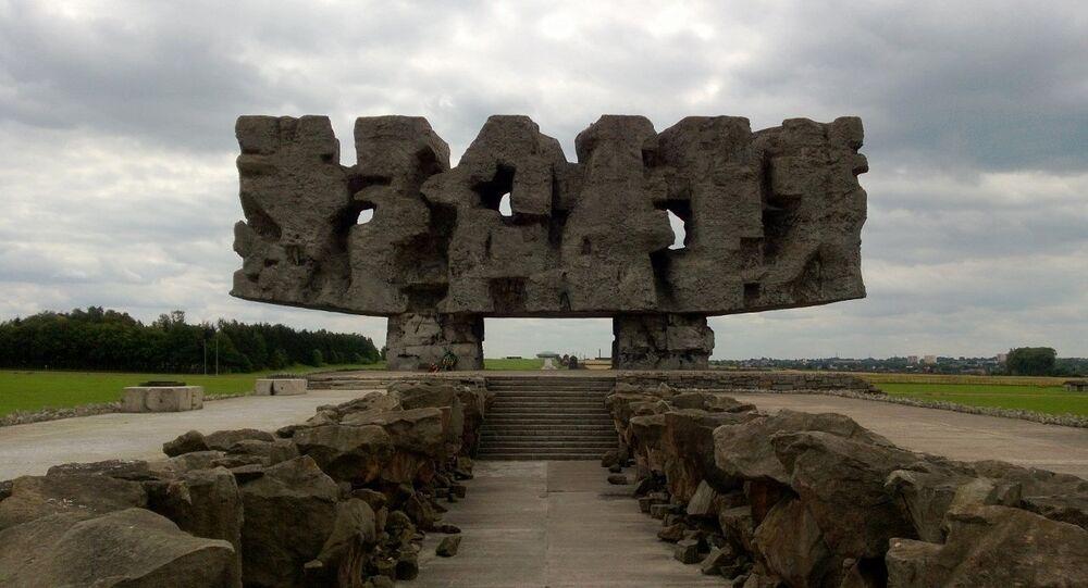 Majdanek, un ancien camp de concentration nazi situé près de la ville de Lublin (sud-est)