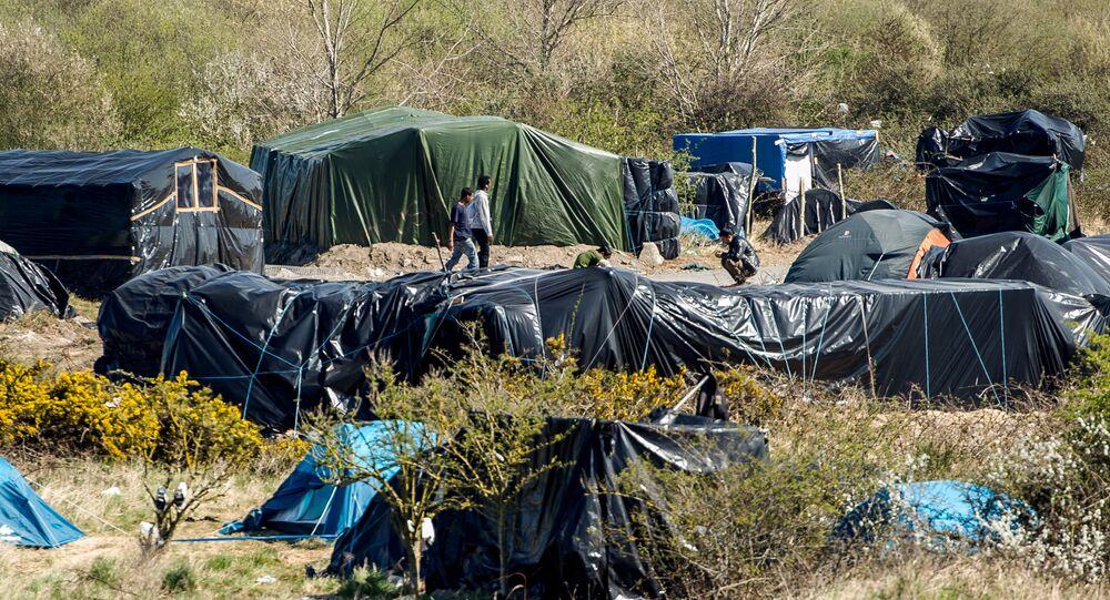 Camp de misgrants près de Calais