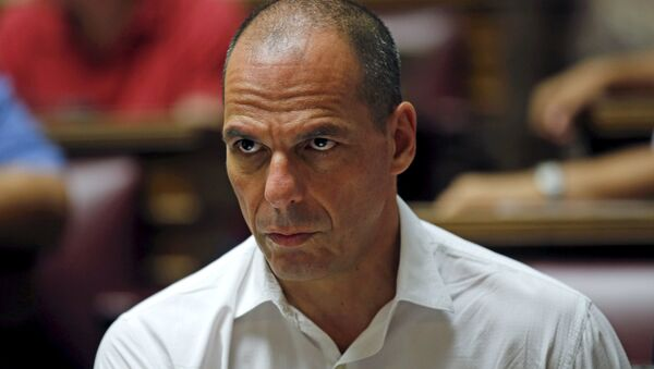 Former Greek Finance Minister Yanis Varoufakis attends a session of ruling Syriza's leftist party parliamentary group at the Parliament building in Athens, Greece July 10, 2015. - Sputnik France