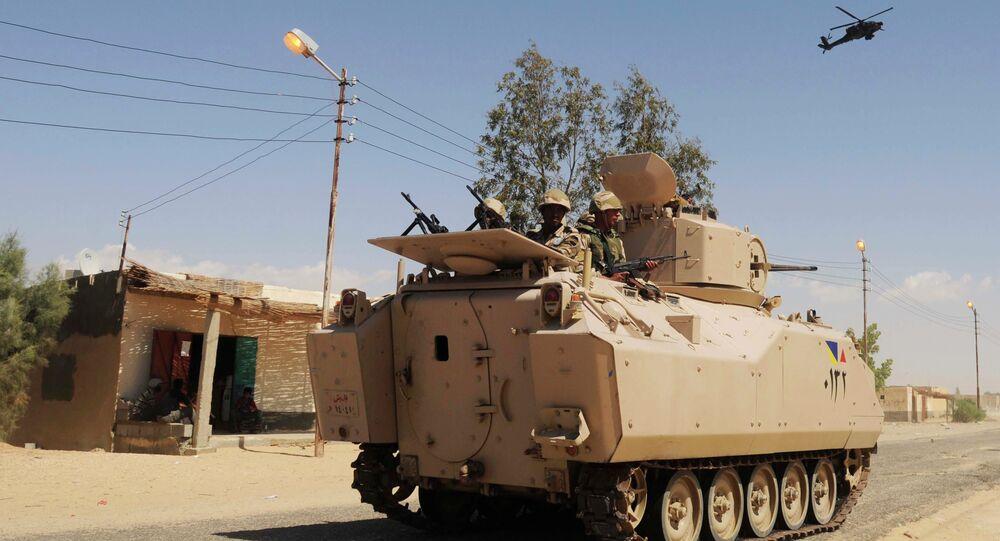 L'armée égyptienne dans le Sinaï (image d'archives)
