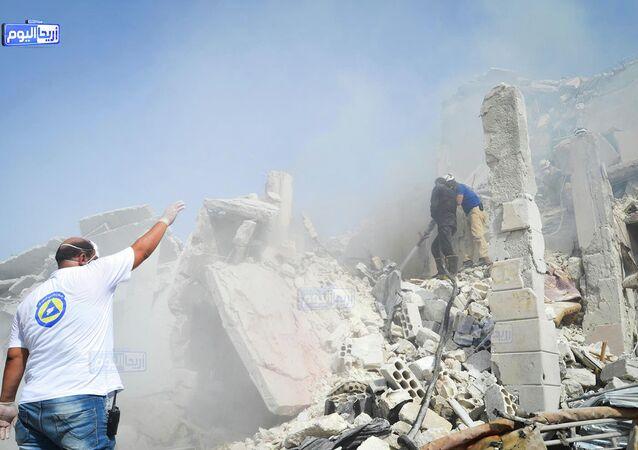 Syrie: crash d'un avion militaire sur un quartier résidentiel