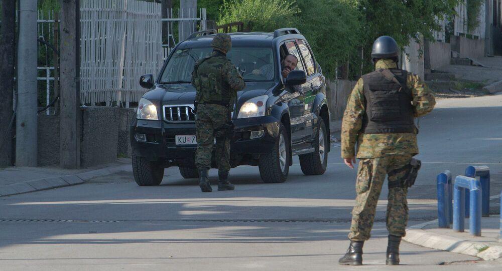 La police macédonienne, Kumanovo, Archive photo