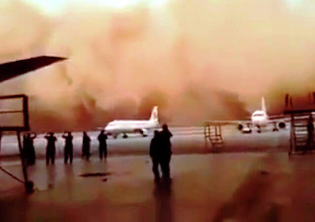Jordanie: une violente tempête de sable paralyse l'aéroport de la capitale
