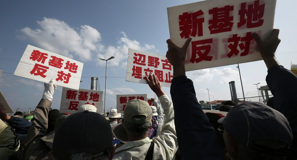 Okinawa, protestations