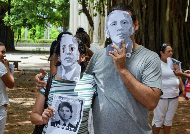 Les manifestations à Cuba: un pistolet sur la tempe de Barack Obama