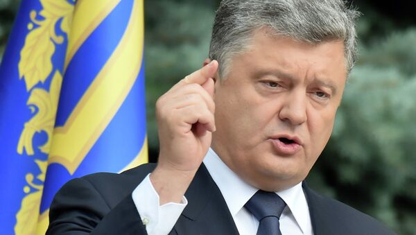 Ukrainian President Petro Poroshenko addresses medias in Kiev on July 1, 2015. - Sputnik France