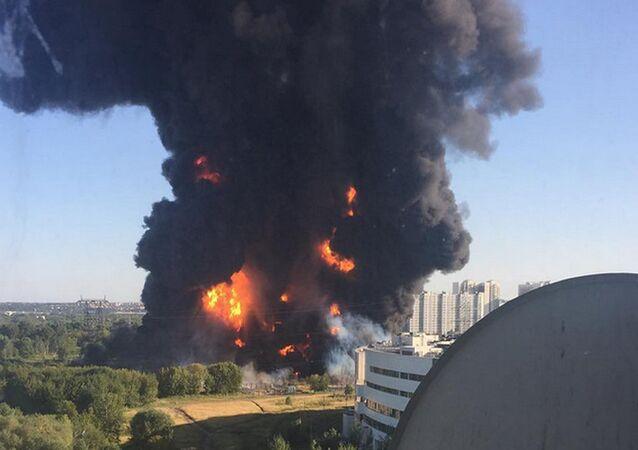 incendie au sud-est de Moscou