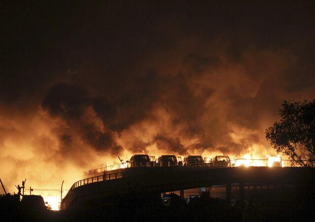 Incendie à Tianjin