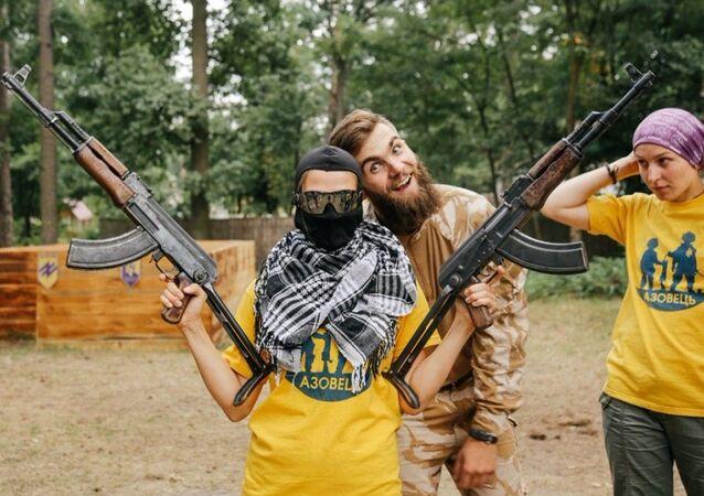 le camp militaro-patriotique ukrainien Azovets
