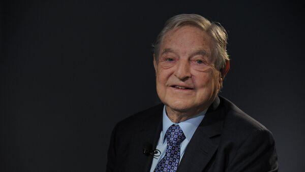 Soros Fund Management Chairman George Soros poses on January 26, 2013, - Sputnik France