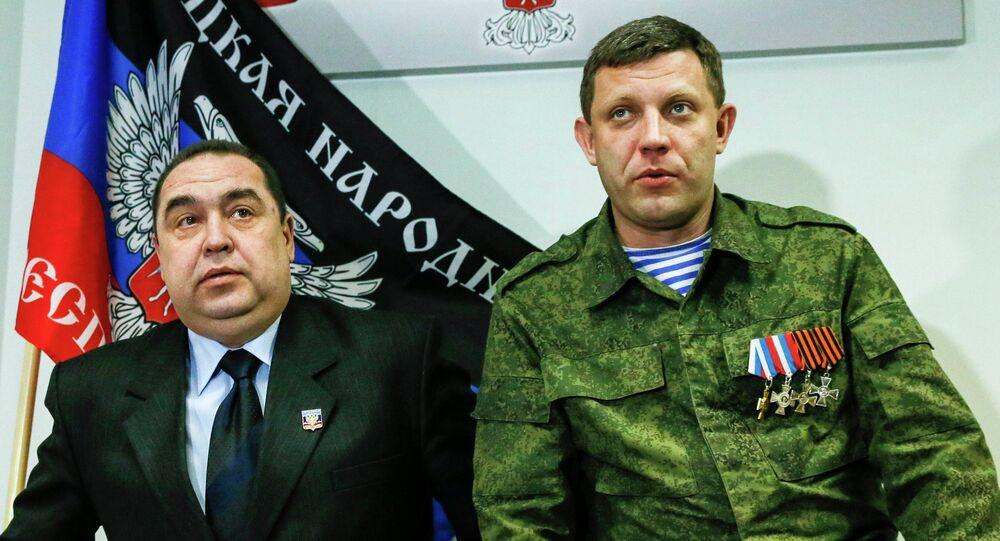 Alexander Zakharchenko et Igor Plotnitski, dirigeants des républiques LNR et DNR