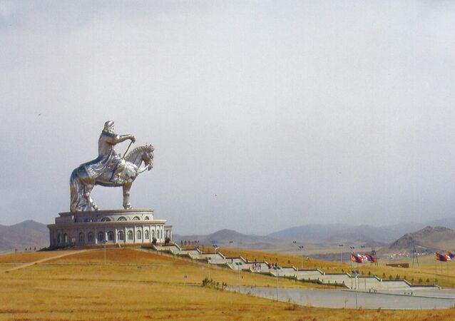 Statue de Genghis Khan en Mongolie
