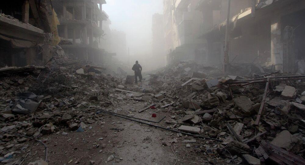 Bâtiments endommagés. Syrie, 2015