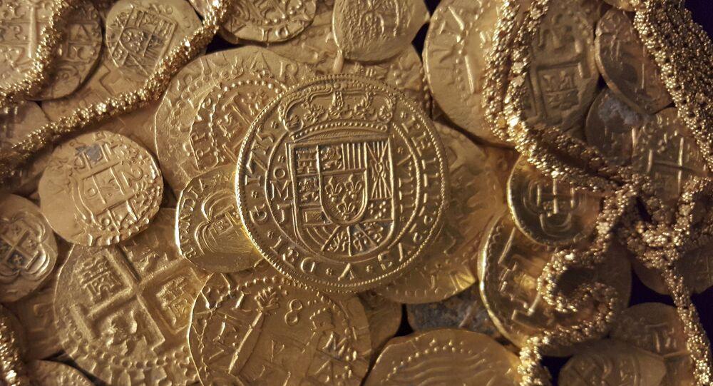 Des pièces d'or espagnoles trouvées près des côtes de la Floride