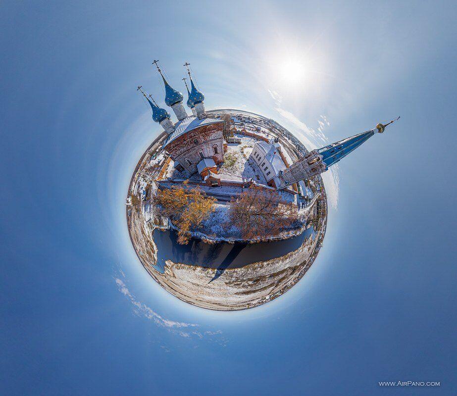 Russie: L'Anneau d'or vu du ciel.