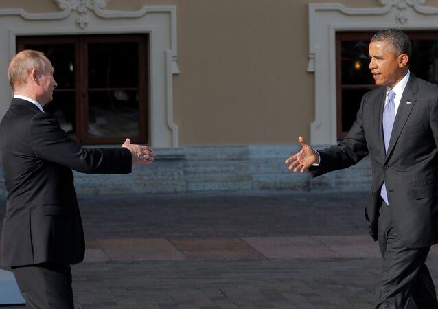 Vladimir Poutine et Barack Obama. Archive photo