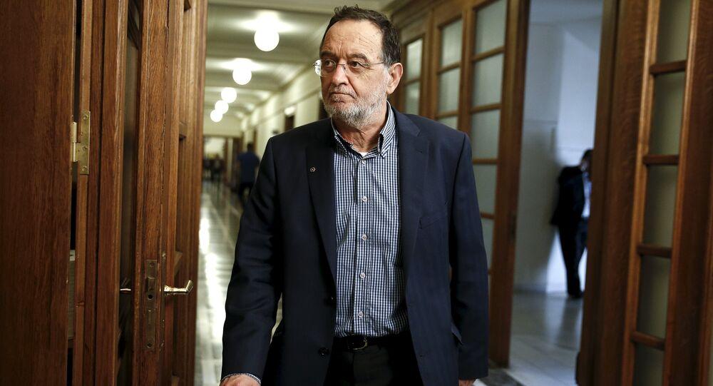L'ancien ministre de l'Energie Panagiotis Lafazanis