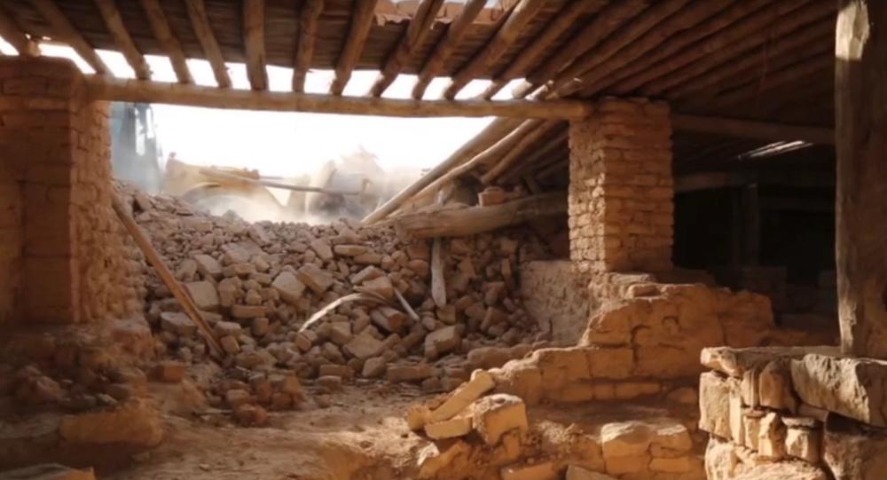 Les extrémistes du groupe Etat islamique (EI) ont rasé jeudi au bulldozer le monastère syriaque catholique de Mar Elian (de Saint Elie)