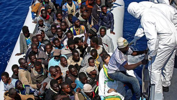 Migrants en Méditerranée (image d'illustration) - Sputnik France