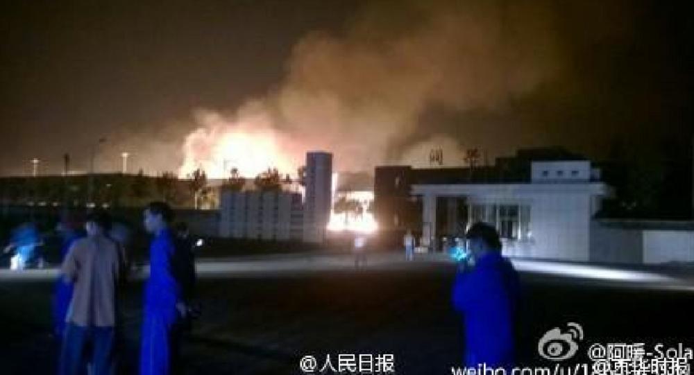 Explosion dans une usine chimique en Chine