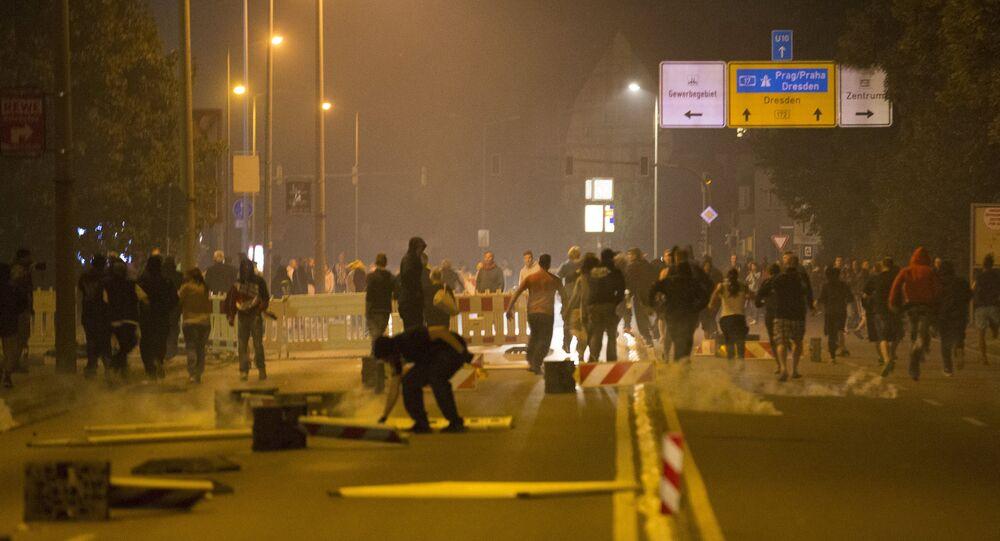Protestations anti-migrants à Heidenau