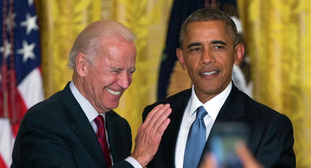 Le vice-Président de l'époque Joe Biden and le Président américain Barack Obama