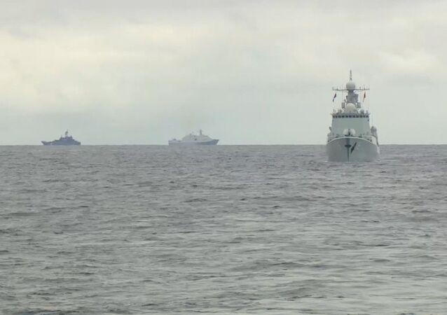 Exercices militaires russo-chinois dans l'Extrême-Orient russe