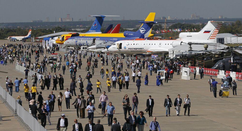 Le Salon international aérospatial MAKS-2015 a ouvert ses portes mardi 25 août