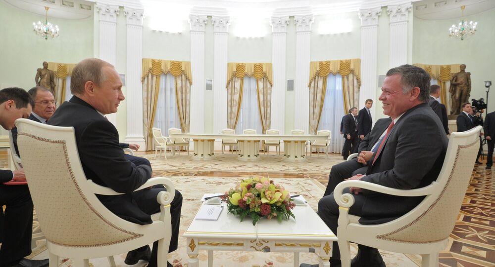 Vladimir Poutine et Abdallah II. Archive photo