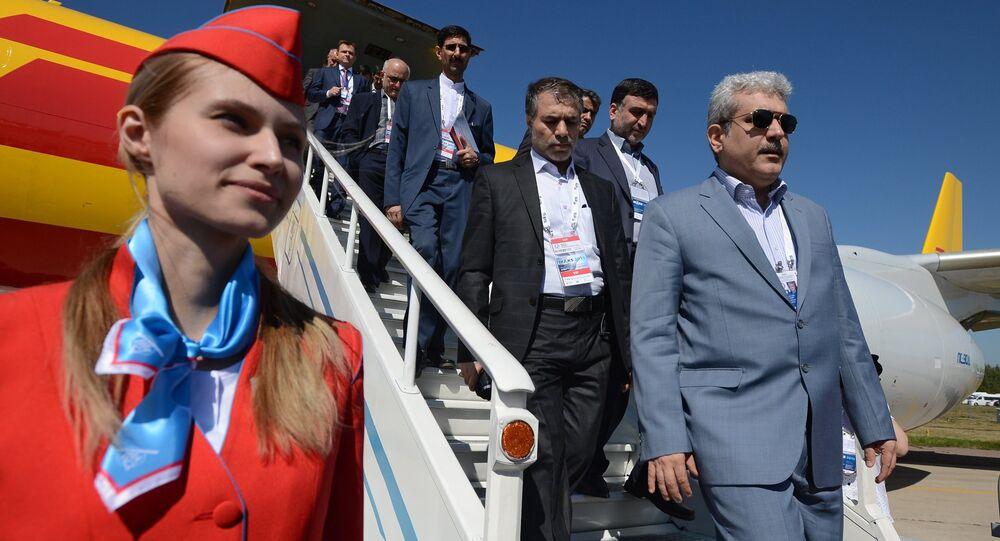Vice-président iranien Sorena Sattari au Salon aérospatial international MAKS-2015