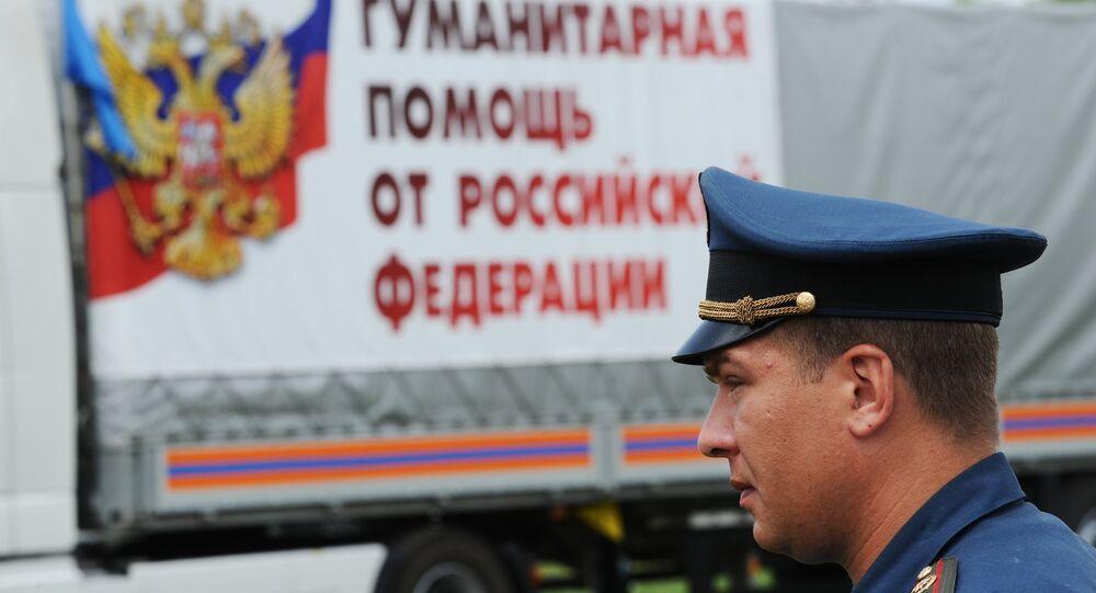 Convoi humanitaire pour les habitants du Donbass