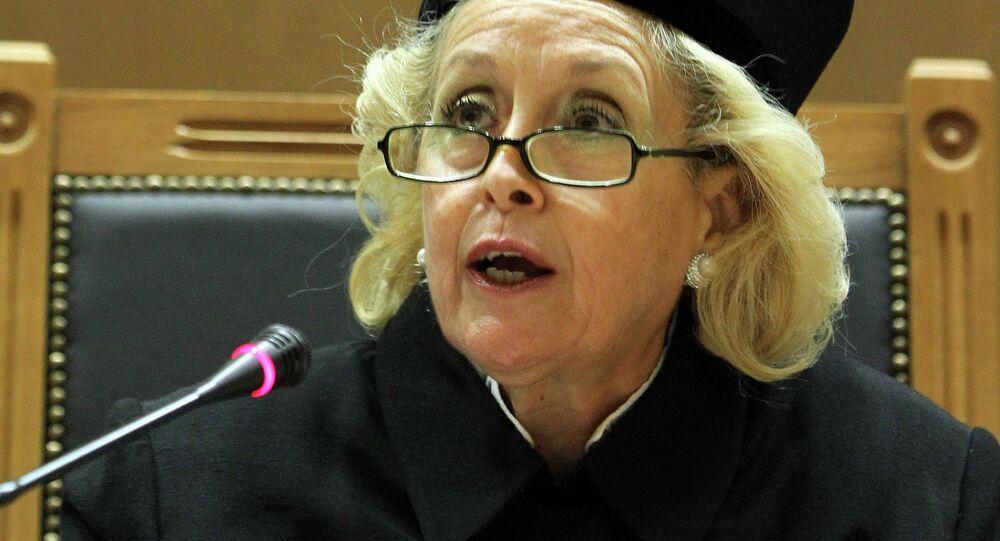 La présidente de la Cour suprême Vassiliki Thanou