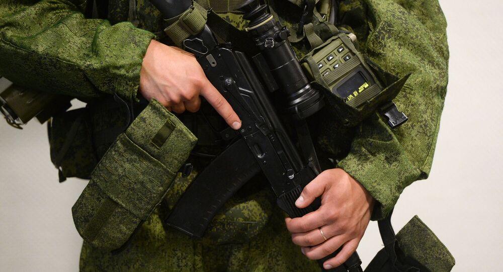 Nouvel équipement d'un soldat russe