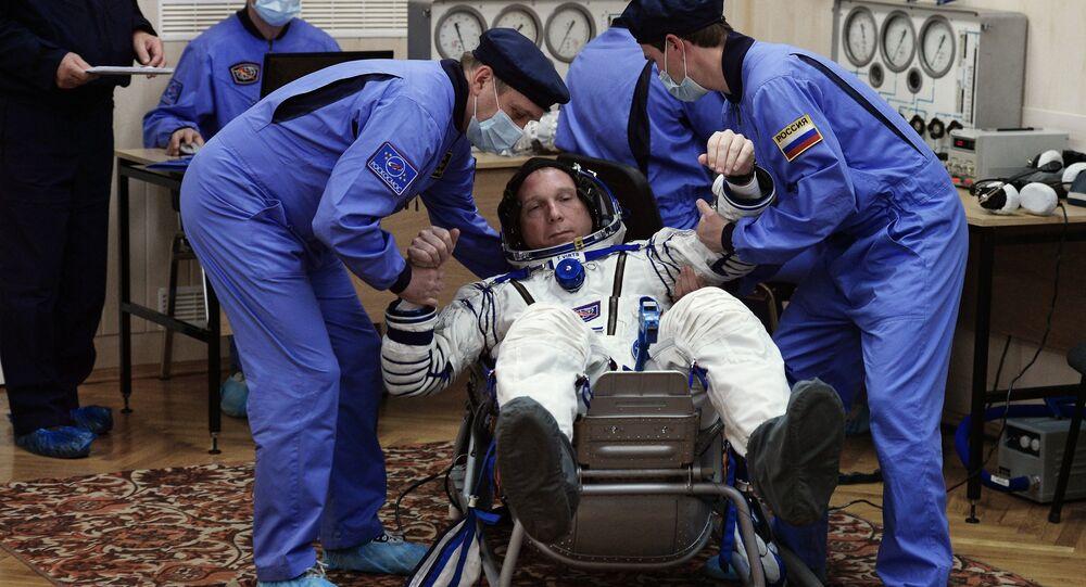 L'astronaute de la NASA Terry Virts se prépare à un vol à bord d'un Soyouz