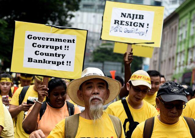 Malaisie: des manifestants réclament le départ du premier ministre