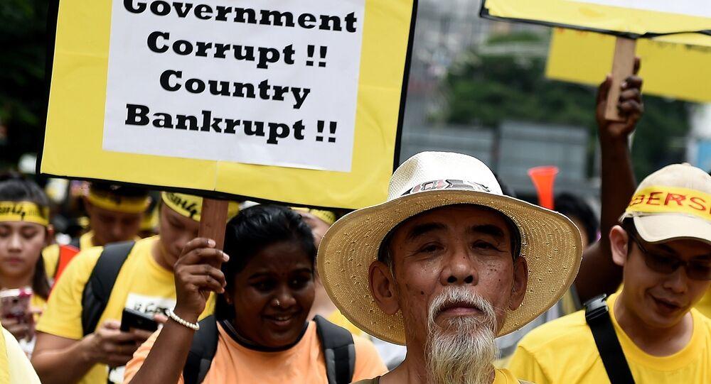 Manifestatkion à Kuala Lumpur
