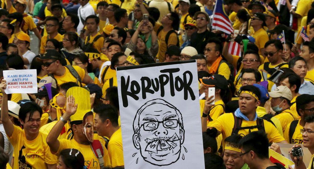 Une manifestation à Kuala Lumpur