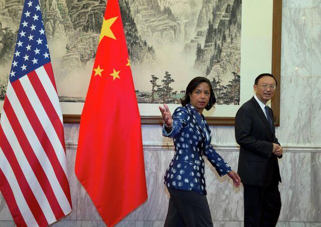 Susan Rice et Yang Jiechi