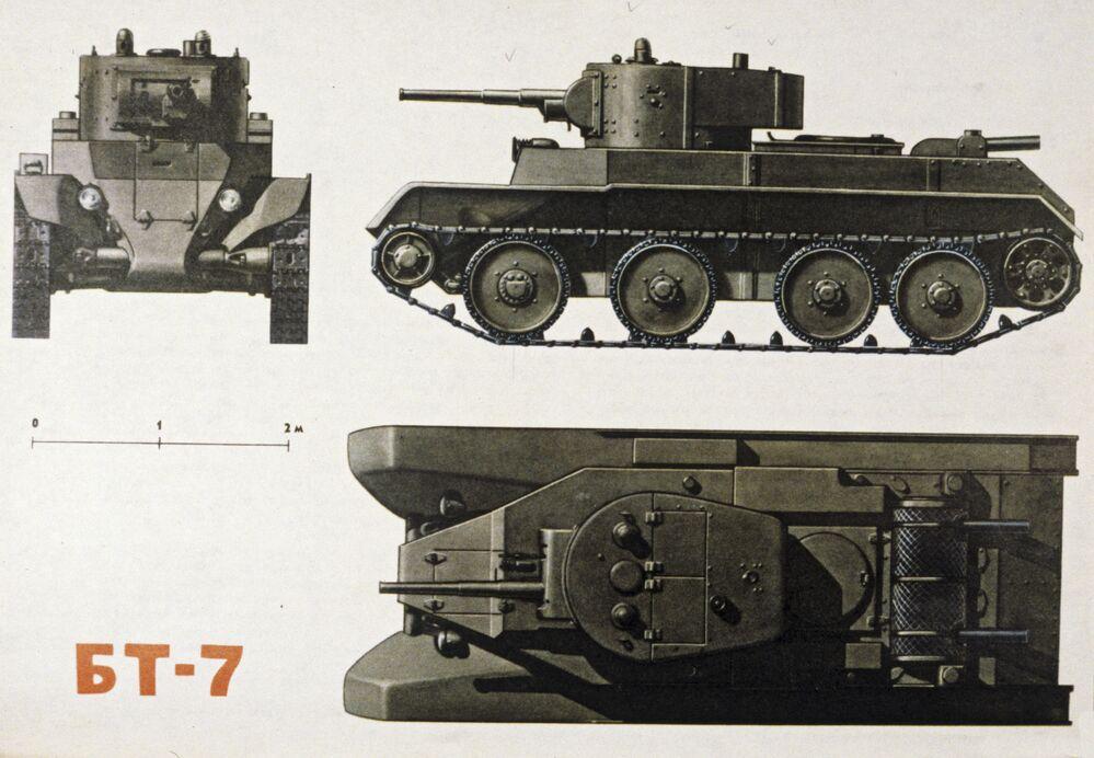 Char léger semi-chenillé BT-7