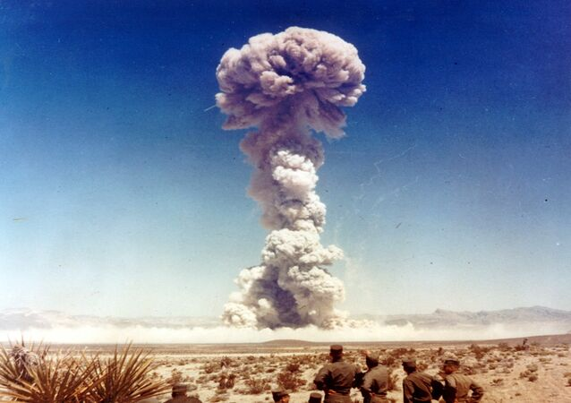 US nuclear weapons test in Nevada