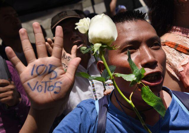 les Guatémaltèques en liesse