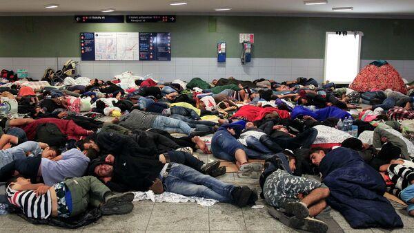 Migrants à Budapest, Septembre 3, 2015 - Sputnik France
