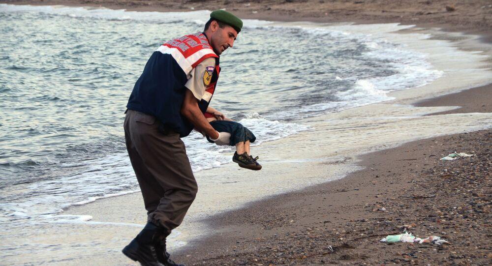 Petit réfugié syrien retrouvé mort noyé sur une plage de Turquie