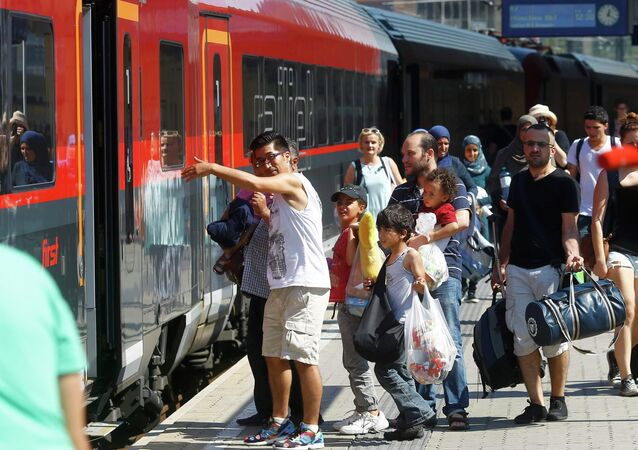 Migrants prennent un train à Vienne pour aller à Munich (archives)