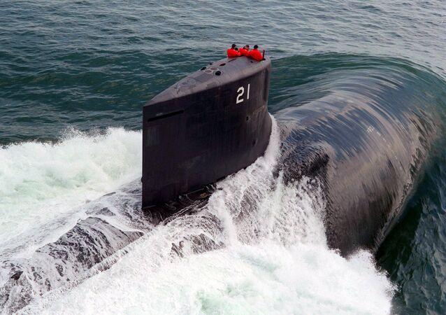 Le sous-marin nucléaire américain USS Seawolf