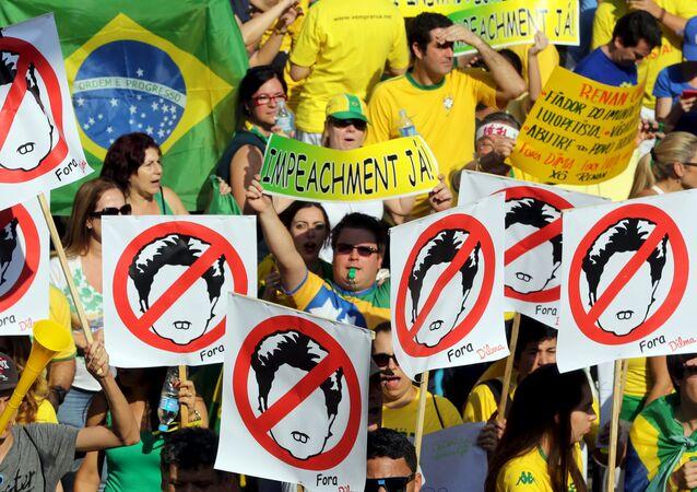 Dilma Rousseff contestée